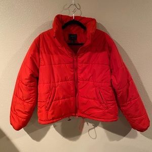 Forever21 red puffer jacket